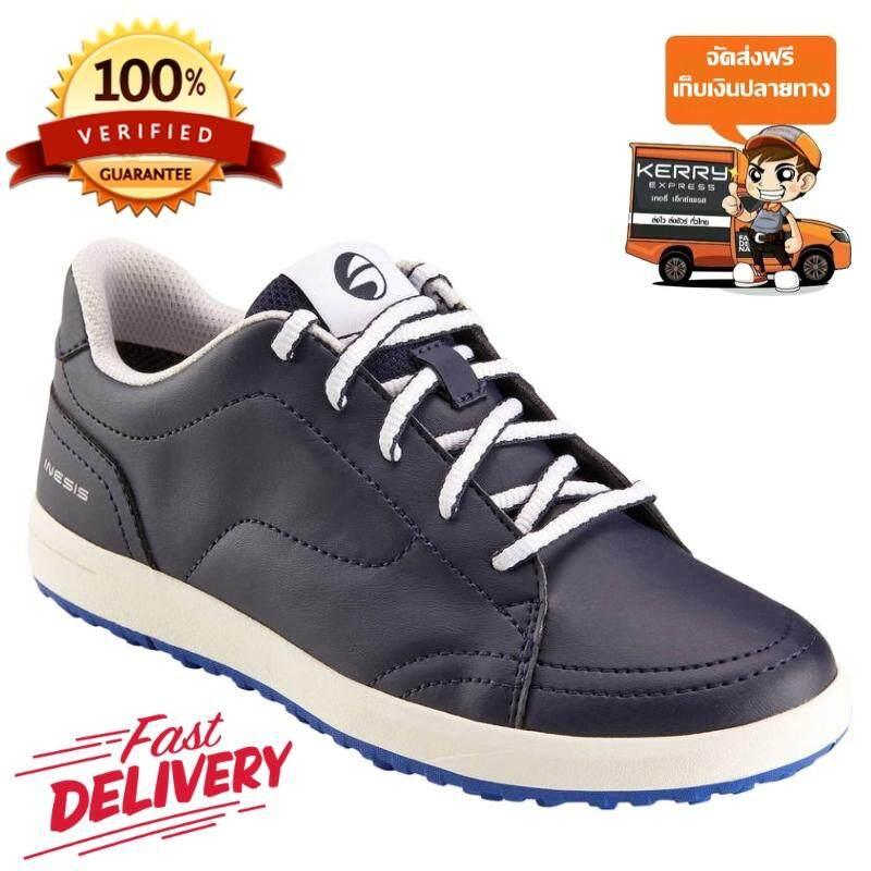 รองเท้ากอล์ฟสำหรับเด็ก (สีกรมท่า) สำหรับการเล่นกอล์ฟ ให้คุณสวมใส่สบายด้วยวัสดุกันน้ำและน้ำหนักเบา! *ฟรีค่าจัดส่ง* By Poon Store.