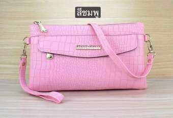 กระเป๋าสะพายข้างใบเล็ก กระเป๋าถือ mini Bag ซิป 2 ช่อง หนังลายจรเข้ รุ่นYK-032-