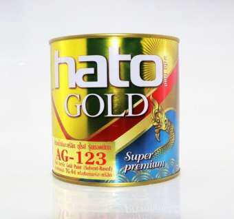 HATOสีทองน้ำมันอะคริลิคแท้ สีเรียบเนียน ไม่หมองดำ AG-123 (ขนาด1ปอนด์)-