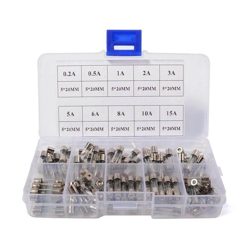 Giá Quá Tốt Để Có 100 Picas 5x20mm Quick Blow Fuse Kit For Glass Tubes Of 10 X 0.2A, 0.5A, 1A, 2A, 3A, 5A, 6A, 8A, 10A, 15A In A MA443 Box