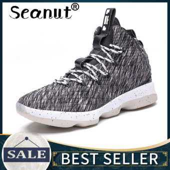 Seanut Basketball Shoes Men/Women Athletic Breathable Outdoor Sneakers Wear Resistant Non-slip Mid Upper Sports Training Shoes-