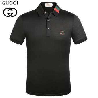 เสื้อโปโลผู้ชายแขนสั้นgucci เสื้อโปโลG u c c i ป้ายกุ ช ชี่ครบ เสื้อผ้าแฟชั่นผู้ชาย