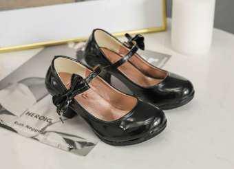 Intrendmixx รองเท้าส้นสูงเด็ก รองเท้าเด็กสีดำ รองเท้ามีส้นสำหรับเด็ก รองเท้าส้นสูงสำหรับเด็ก รองเท้าเด็กผู้หญิง รองเท้าเดินแบบ รองเท้าสวยๆ ใส่สบาย