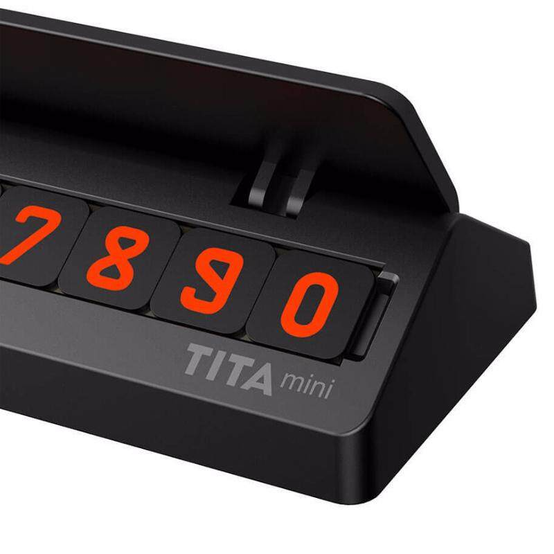 Tita Mini แท่นป้ายเบอร์โทรศัพท์วางหน้ารถ เมื่อจอดรถชั่วคราว จอดรถขวาง Temporary Parking Phone Number Card Plate By Hins.