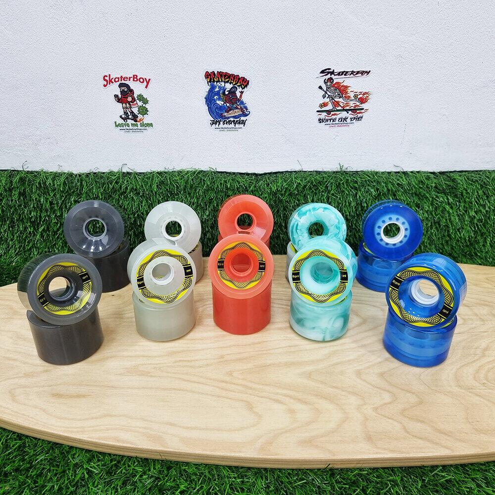 [?พร้อมส่ง]?ล้อสเก็ตบอร์ด Rareant ล้อใส 65x45mm Shr78aa Skateboard Wheels Professional High Elastic Ldp.