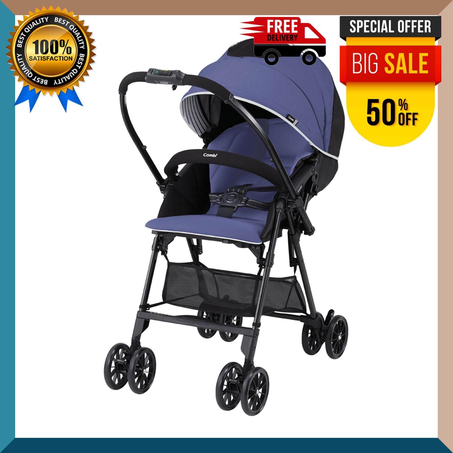 COMBI รถเข็นเด็ก รุ่น Mechacal Handy S 117027 สีม่วง รถเข็นเด็ก เป้อุ้มเด็ก อุปกรณ์เด็ก เบาะติดรถยนต์  สำหรับเด็ก เสริมพัฒนาการเด็ก ปลอดภัยสูง ***จัดส่งฟรี***