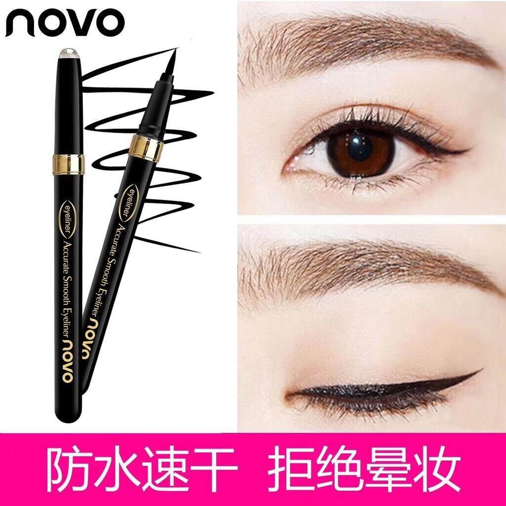 No.5081 Novo Black Accurate Smooth Eyeliner อายไลน์เนอร์ ชนิดปลายพู่กันสีดำสนิท ติดทนนาน24ชั่วโมง