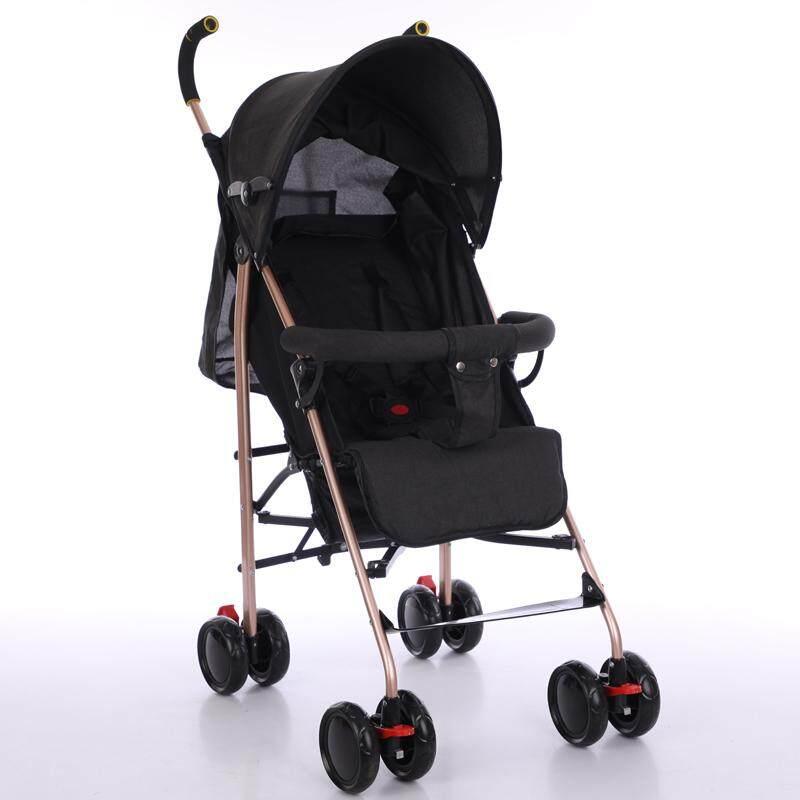 แนะนำ รถเข็นเด็ก ปรับได้ 3 ระดับ น้ำหนักเบา รองรับหนัก (นั่ง/เอน/นอน) ฟรีมุ้งคร้า baby stroller รุ่น 222#