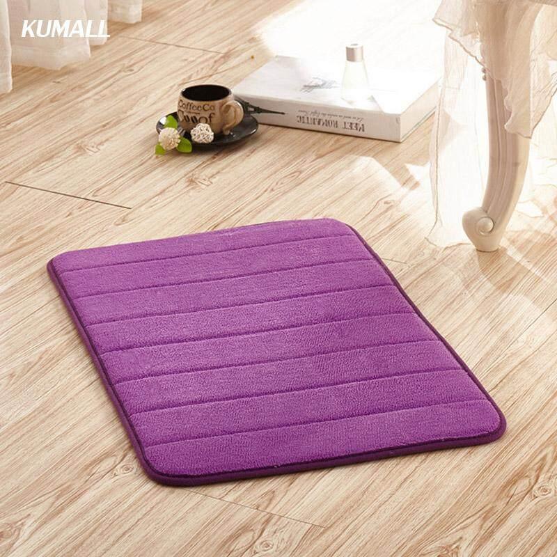 Kumall พรมเช็ดเท้า พรมปูพื้น ขนาด 40x60cm นุ่มนิ่ม สบายเท้า กันลื่น ต่อต้านแบคทีเรีย หน่วยความจําโฟม Carpet By Kumall.