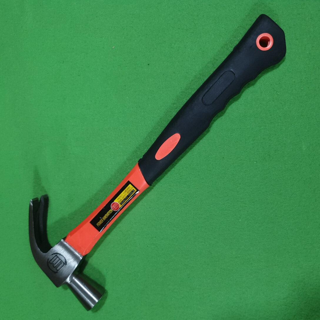 Just Bargains ค้อนขนาดเต็ม1ปอนด์ 490 Gms ด้ามจับยางขึ้นรูป ค้อนตี ค้อนตีตะปู อุปกรณ์ช่าง จับถนัดมือ.