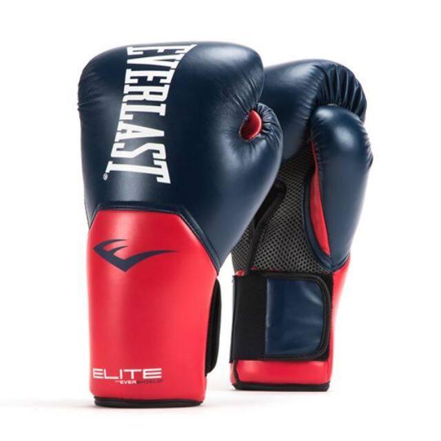 โปรโมชั่น อุปกรณ์กีฬา อุปกรณ์ฝึกซ้อม อุปกรณ์ฝึกโยคะ อุปกรณ์ฝึกบอล Everlast Pro Style Elite Tranning 12ozนวมชกมวย สีดำ (black) น้ำเงินแดง ฟ้า ราคาถูก.