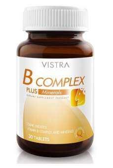 สุดคุ้มซื้อ 3 ขวดถูกกว่า Vistra B-Complex Plus Minerals 30's*Bots-