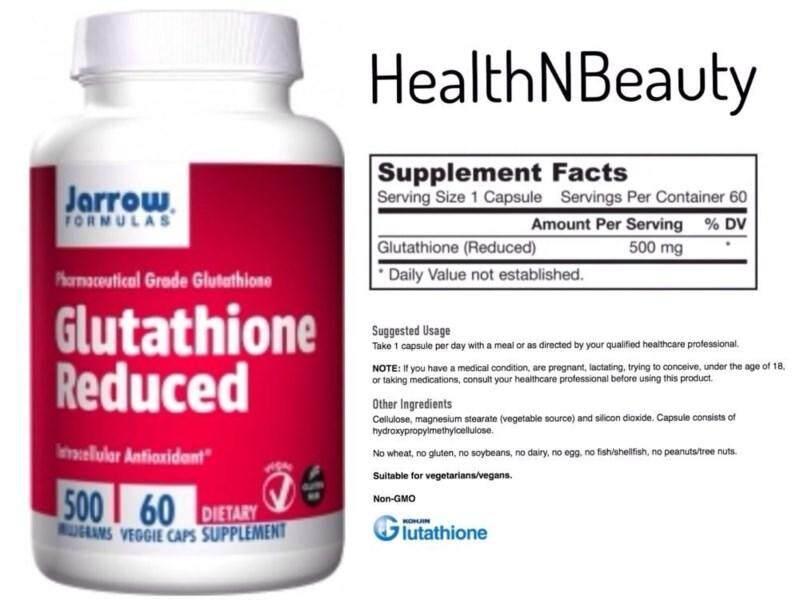 กลูต้าไธโอน++ช่วยให้ผิวขาวออร่า ดีท็อกตับขจัดสารพิษ++  Jarrow Formulas, Glutathione Reduced, 500 Mg, 60 Veggie Caps นำเข้าจากอเมริกาแท้100%.