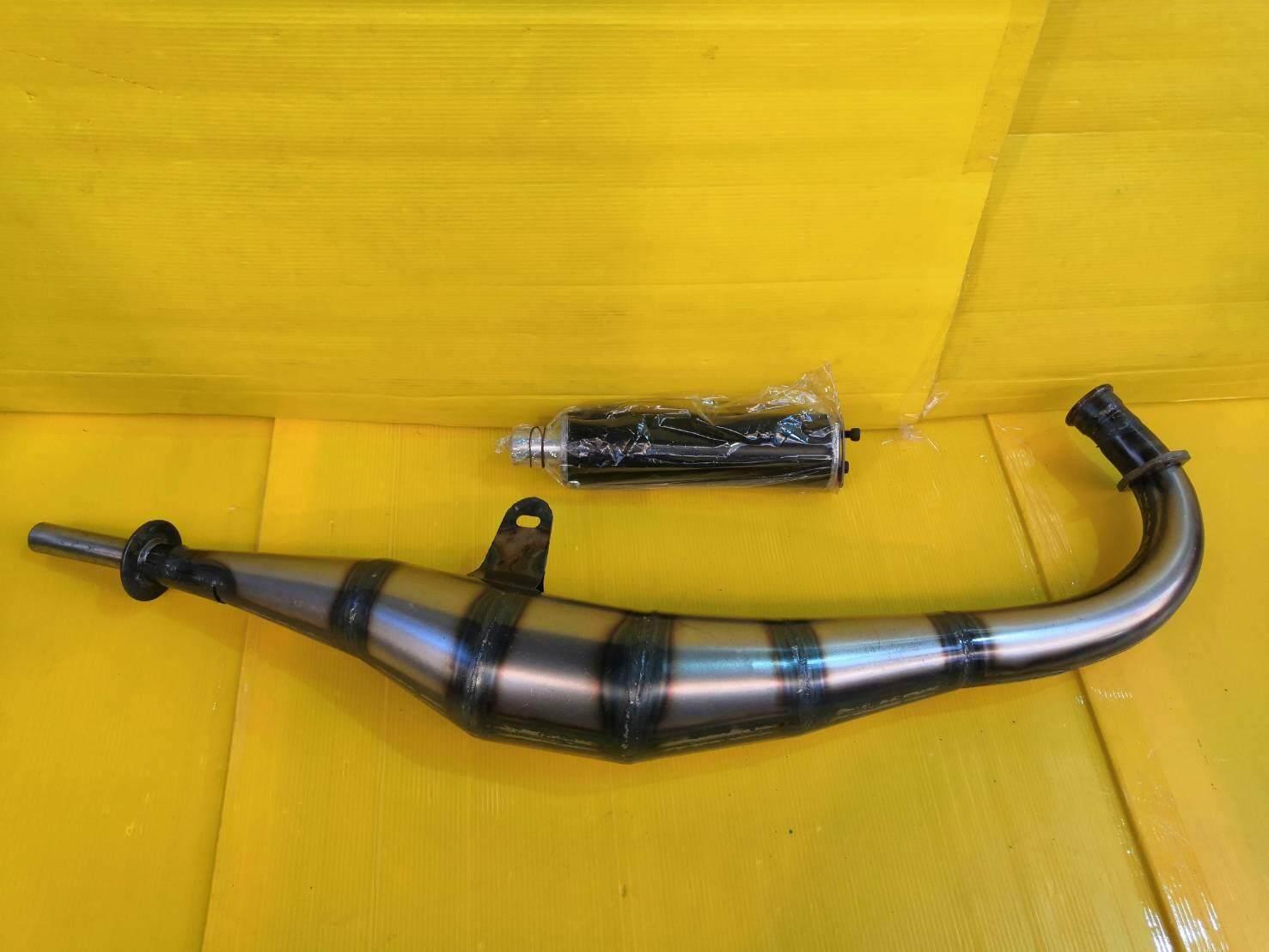 โปรโมชั่น ท่อสูตร ท่อข้าง แบบเหล็ก 2T Tena เทน่า โนวา NOVA ปลายสีดำ ส่งฟรีเก็บเงินปลายทาง