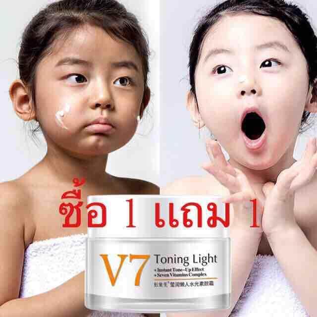Image V7 Toning Light สูตรใหม่จาก Image ช่วยผิวขาวกระชับ ลดริ้วลอย ใบหน้าเรียว By Ruethairatshop.