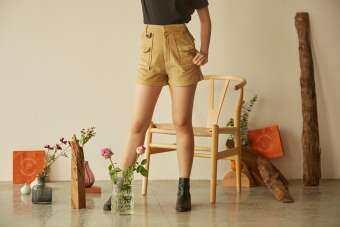 Highestjump กางเกงขาสั้น puffy-