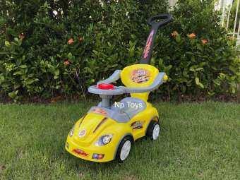 Toykidsshop รถเด็กขาไถ ทรงรถสปอร์ต 2in1 มีด้ามเข็น(เป็นรถดุ๊กดิ๊กได้)มีเสียงดนตรี No.46-