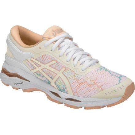Asics // Gel - Kayano 24 Lite-Show // T8a9n.0101 // White/white/apricot Ice (woman) By Asics Outlet.