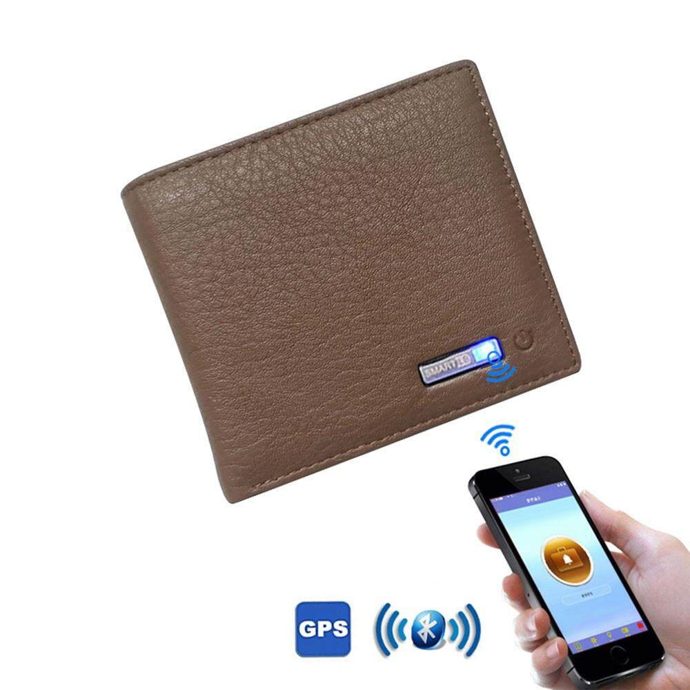 GoodScool SMARTLB Wallet Finder Smart Tracker GPS Men PU Leather Rechargeable Card Holder