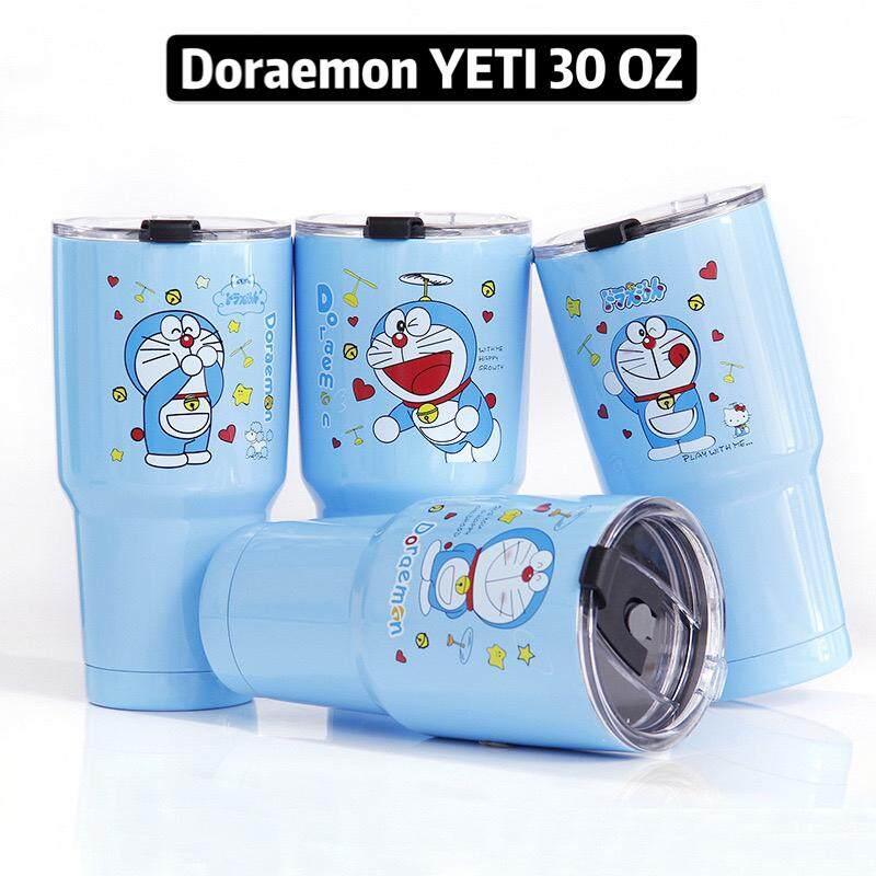 แก้วเยติ Rambler Doraemon สุดน่ารัก  แก้วเก็บความเย็นความร้อน 30 Oz ปริมาตรใหญ่จุใจเก็บความเย็นได้นาน.