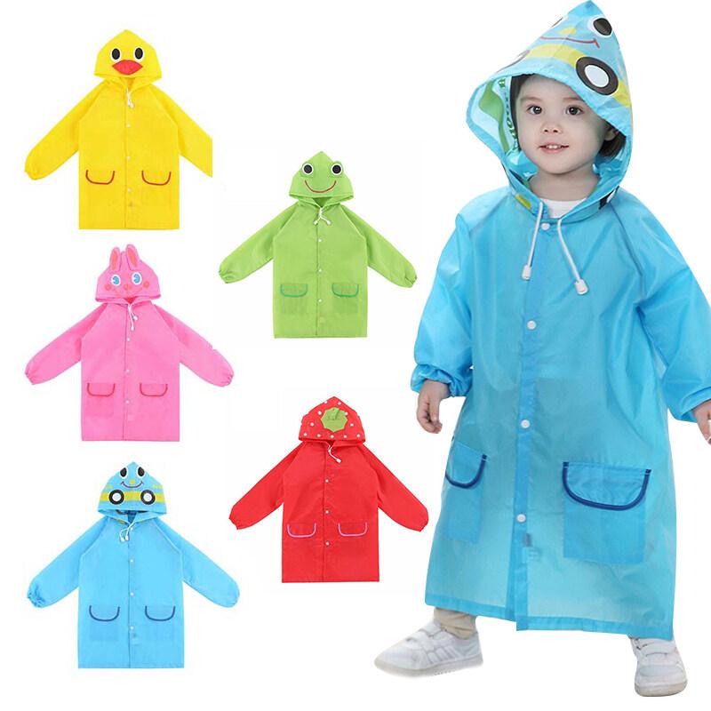 【ready Stock】เสื้อกันฝน ชุดกันฝนเด็ก Cartoon Raincoat ชุดกันฝนเด็กลายการ์ตูน ผ้าดี สีสันสดใส มีหมวกด้วย Outdoor Rain Tools K04.