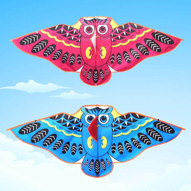 Homegarden 1Pc Cartoon owl flying kite foldable outdoor kite children kids sport toys One Size