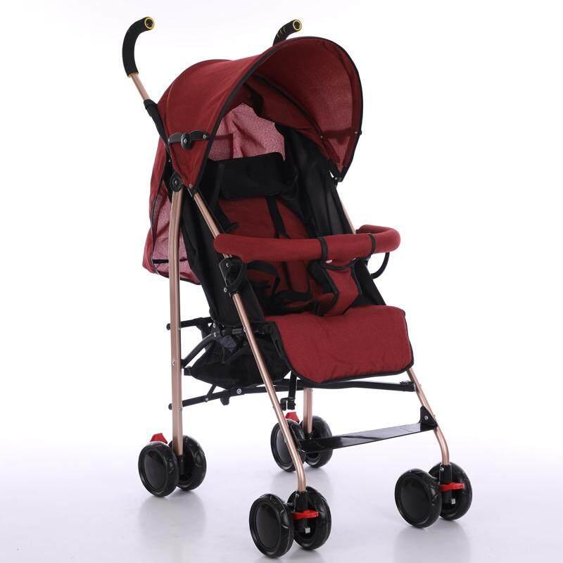 ซื้อที่ไหน รถเข็นเด็ก ปรับได้ 3 ระดับ น้ำหนักเบา รองรับหนัก (นั่ง/เอน/นอน) ฟรีมุ้งคร้า baby stroller