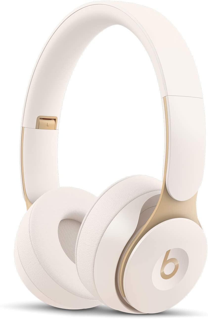 Beats Solo Pro Wireless ตัดเสียงรบกวนในหูหูฟังชุดหูฟัง AppleH1 ชิปรุ่นที่ 1 บลูทู ธ 22 ชั่วโมงของการฟังเวลาไมโครโฟนในตัว
