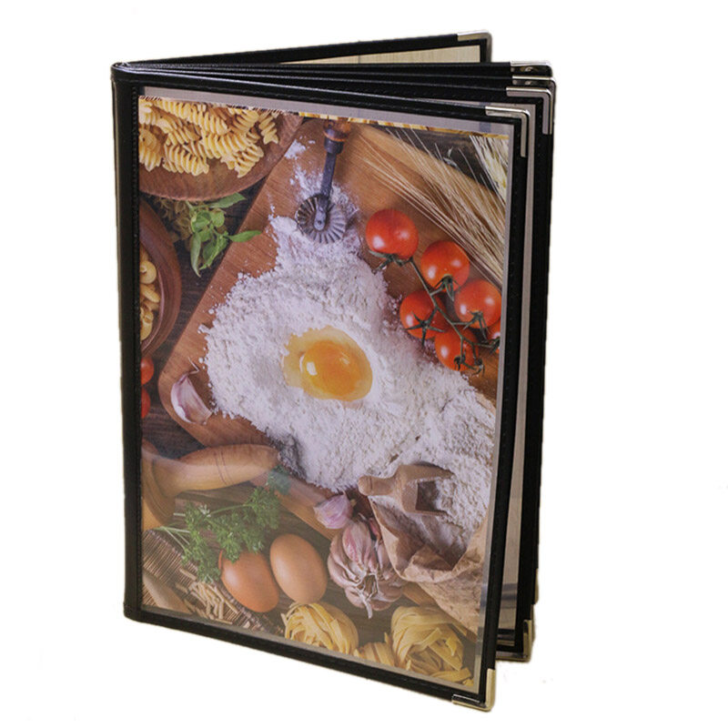Transparent Restaurant Menu Covers for A4 Size Book Style Cafe Bar 6 Pages 12 View