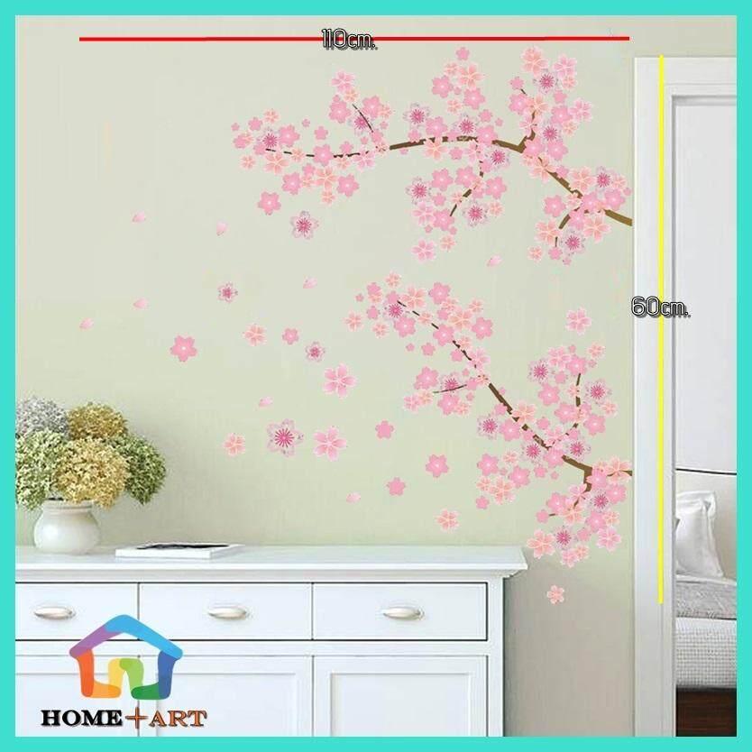 สติ๊กเกอร์ติดผนัง Wall Sticker วอลเปเปอร์สติ๊กเกอร์ แต่งผนังบ้าน วอลเปเปอร์  สติ๊กเกอร์ติดผนังสามมิติ 3d วอลเปเปอร์ติดผนัง Vintage วินเทจ สติ๊กเกอร์ติดผนังปูน สติ๊กเกอร์ลายดอกซากุระ ฟูจิ Sakura Flower Fuji Stickerdiy สติ๊กเกอร์ติดกระจก ราคาถูก พร้อมส่ง.