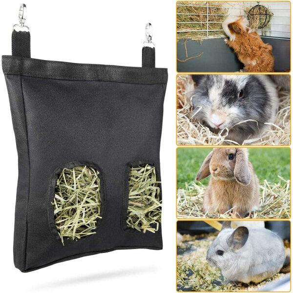 LICHENP Chuột đồng Chinchilla Đối với động vật nhỏ Guinea Rabbit Hay Feeder Túi đựng thức ăn Người giữ bao Túi cỏ khô Máy phân phối cho ăn