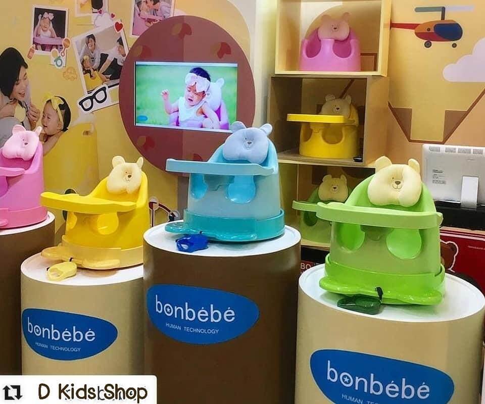 รีวิว Bonbebe Jumbo Baby Seat เก้าอี้หัดนั่ง เก้าอี้ทานข้าว รุ่นใหม่ล่าสุด มีสายจูงล้อลาก
