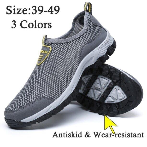 (San zu) Giày thoáng khí siêu nhẹ thời trang nam giày chạy nước leo núi cắm trại mùa hè giày thể thao du lịch cộng với size 39-49 giá rẻ