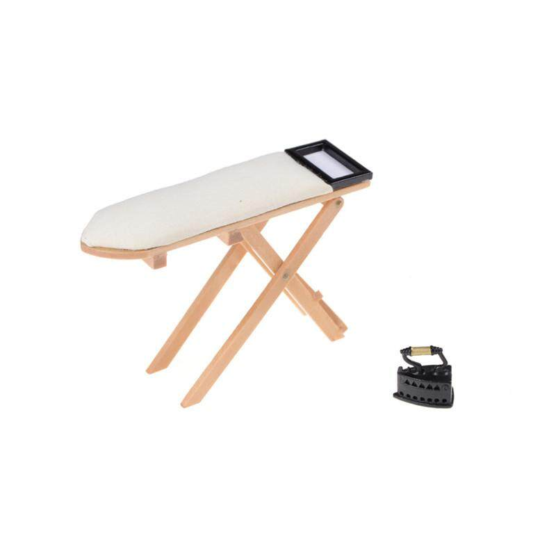 1:12 scale Doll House Miniature Iron With Ironing Board set Pretend Play s!