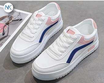 katoshop รองเท้าแฟชั่น รองเท้าผ้าใบผู้หญิง แฟชั่นสุดฮิต  เสริมส้น 3.5 ซม.-