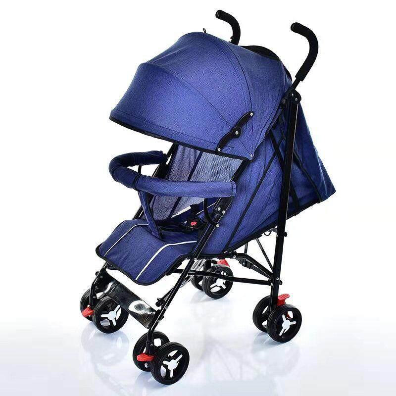 รีวิว รถเข็นเด็ก ปรับได้ 3 ระดับ น้ำหนักเบา รองรับหนัก (นั่ง/เอน/นอน) ฟรีมุ้งคร้า baby stroller รุ่น 222#