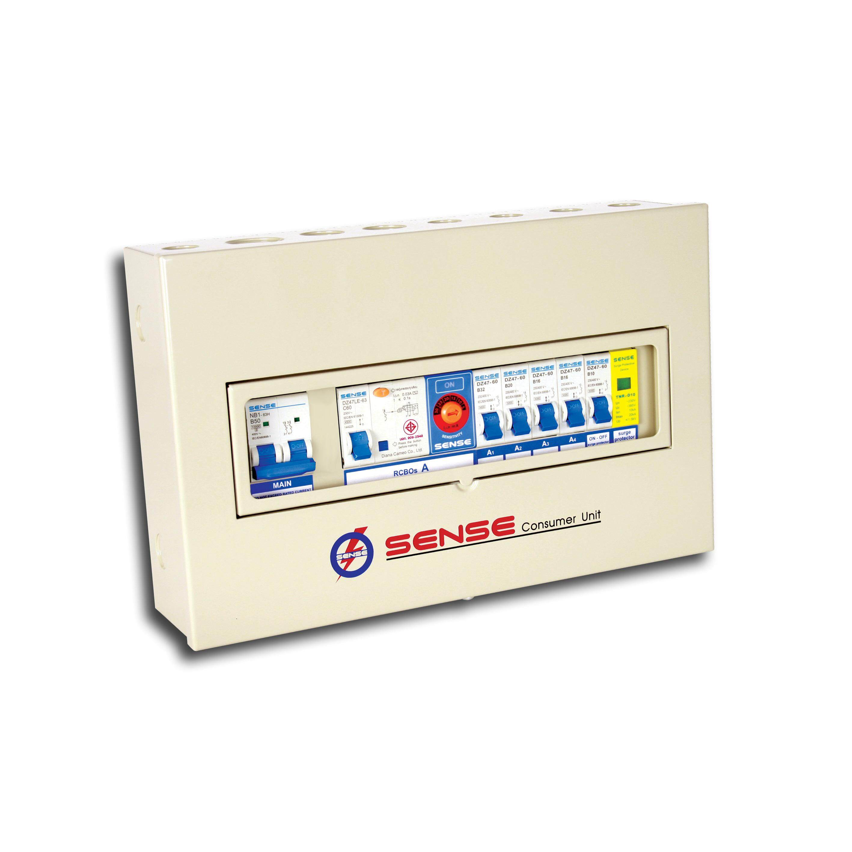 ตู้กันดูดกันซ๊อต กันฟ้าผ่า ควบคุมไฟฟ้า (ตู้คอนซูมเมอร์ยูนิต) ขนาด 4ช่อง พร้อมเครื่องตัดไฟรั่ว (rcd)อุปกรณ์ป้องกันฟ้าผ่า (surge Protector Device) รุ่น S4n  1 ตู้.