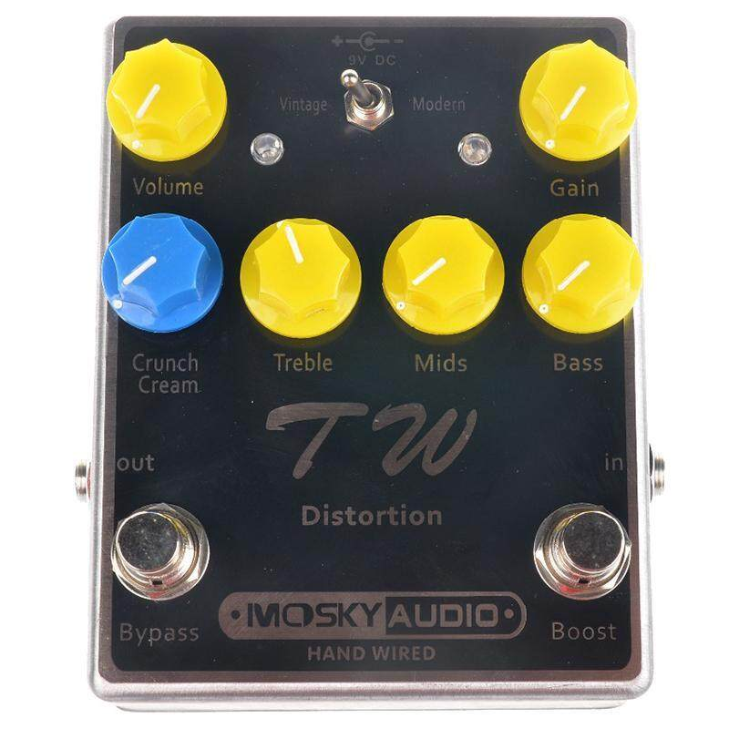 Mosky TW Distortion Guitar Effect Pedal High-quality with Capacitors/Resistors/IC Three Band EQ Effects Malaysia