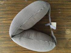 ขาย Easy Pillow หมอนรองคอ Muji Style ลายเส้นดำ ราคาถูกที่สุด