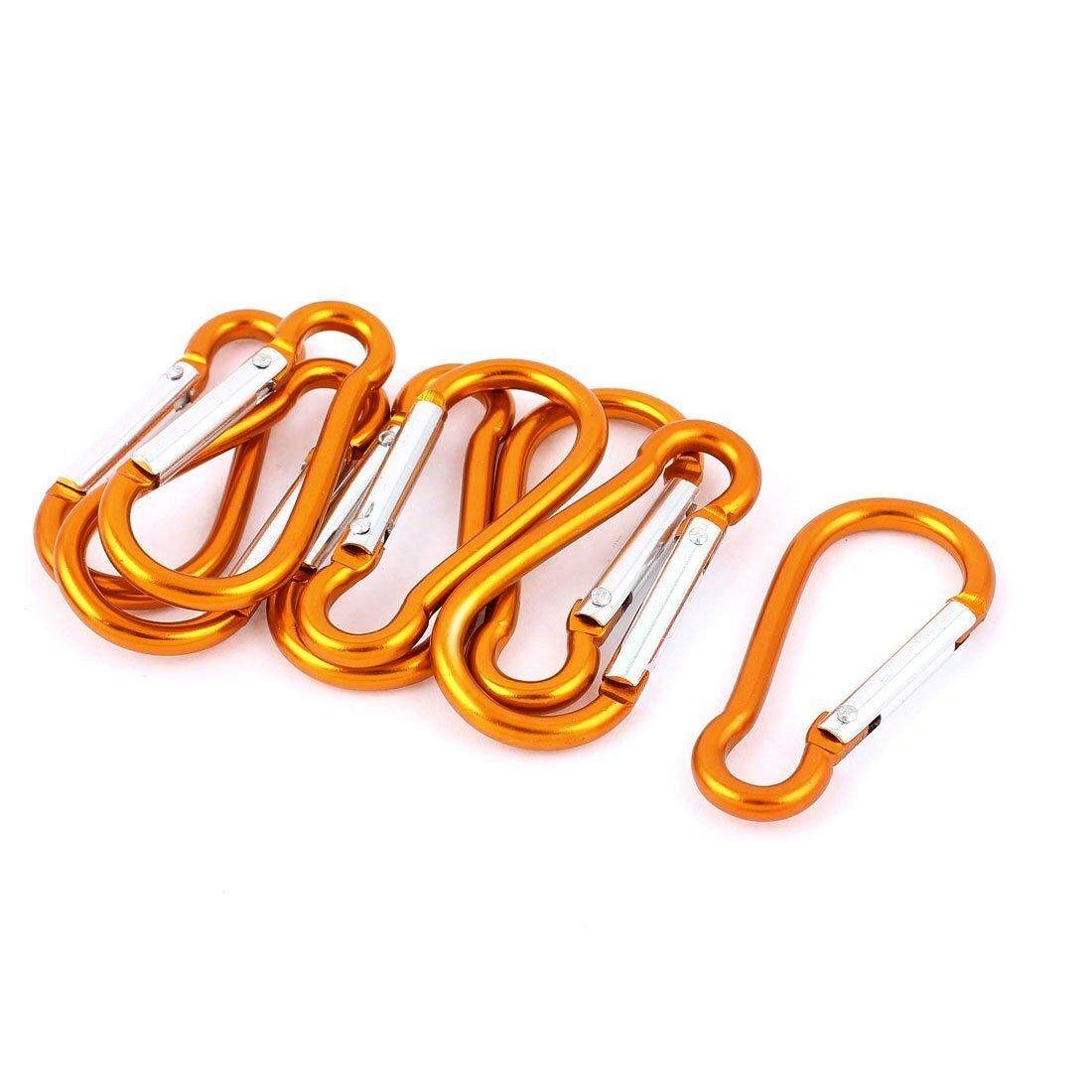 Hiking Clip Carabiner Hook Keychain Carabiner Key Holder 8 Pieces Orange By Ertic.