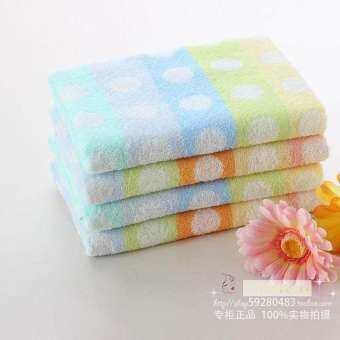 ผู้ชมขนาดใหญ่โปรโมชั่น Furijieyu ฝ้าย100% ล้างหน้าผ้าเช็ดหน้าน่ารักลายจุดผ้าขนหนูเด็กนุ่มผ้าอ้อม