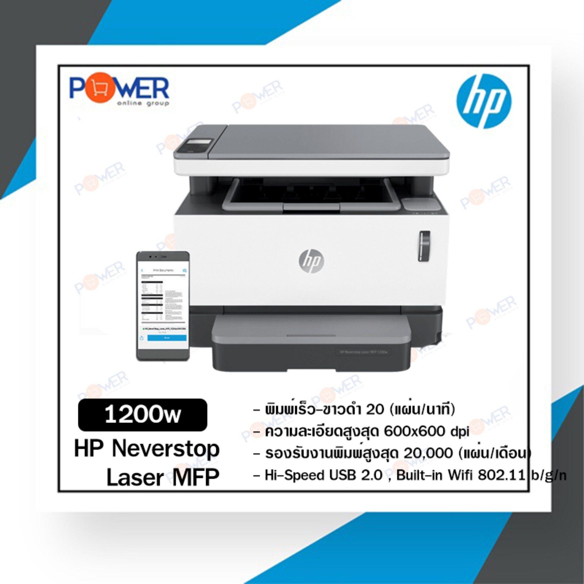 Hp Neverstop Laser Mfp 1200w (4ry26a) พร้อมหมึกแท้ (รับประกัน 1 ปี ).