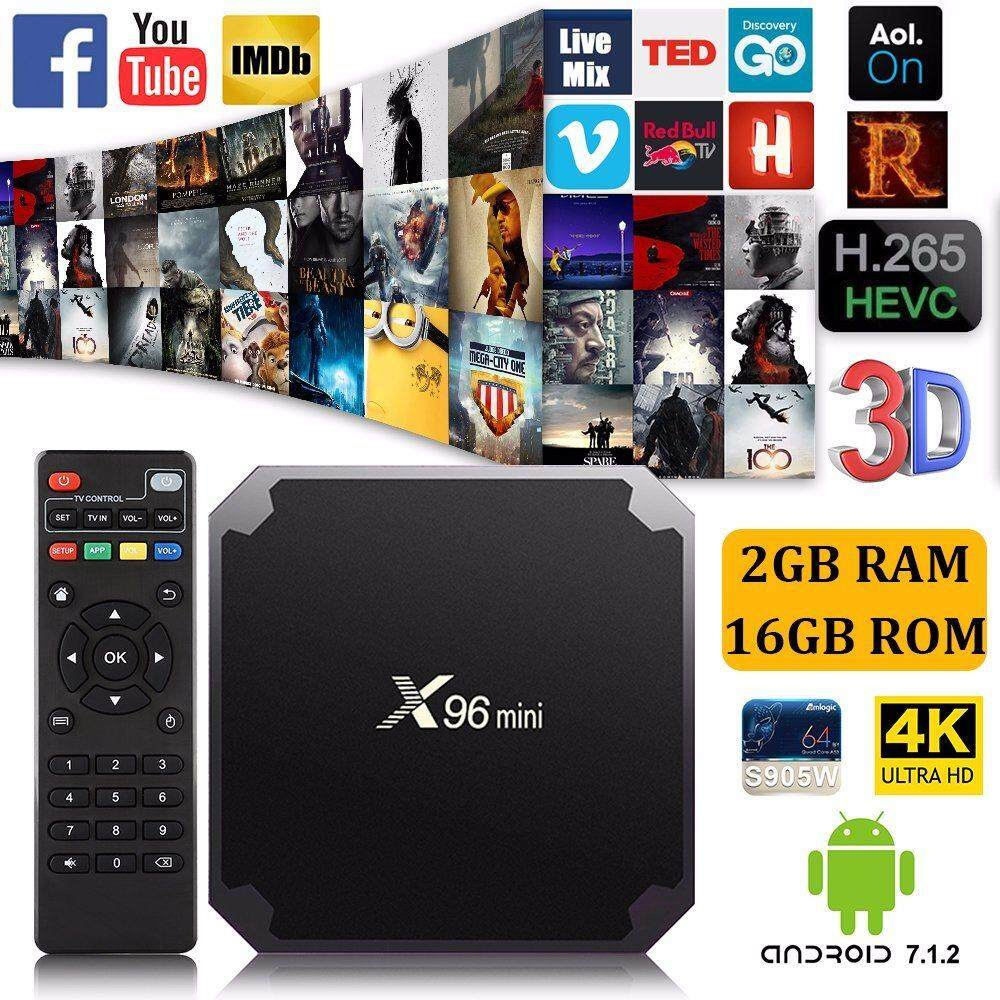 Android Smart Tv Box 2019 จัดโปร ถูกสุด X96mini Ram2gb Rom16gb By Bangkoknet