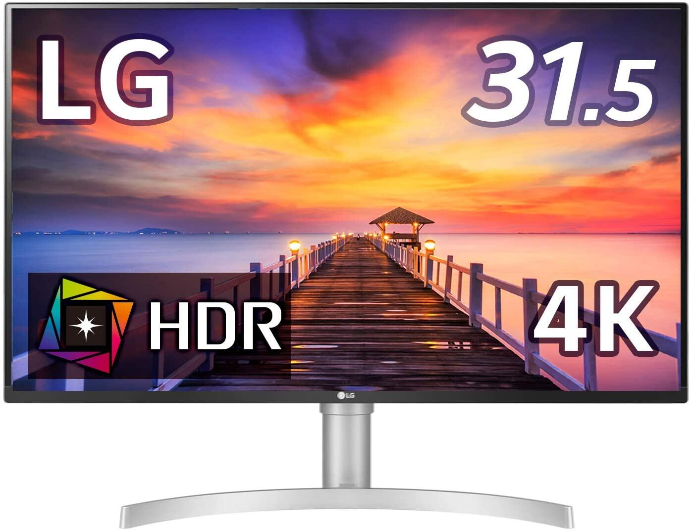 Lg 32un500-W 32 Inch Uhd (3840 X 2160) Va Display With Amd Freesync, Dci-P3 90% Color Gamut, Hdr10 Compatibility, And 3-Side Virtually Borderless Design, Silver/white.