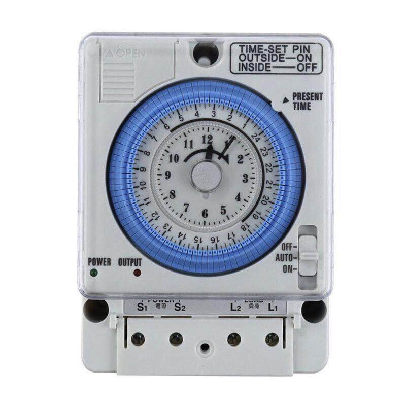 Timer Switch ไทม์เมอร์ นาฬิกาตั้งเวลา 24ชม. มีแบตเตอรี่สำรองไฟ