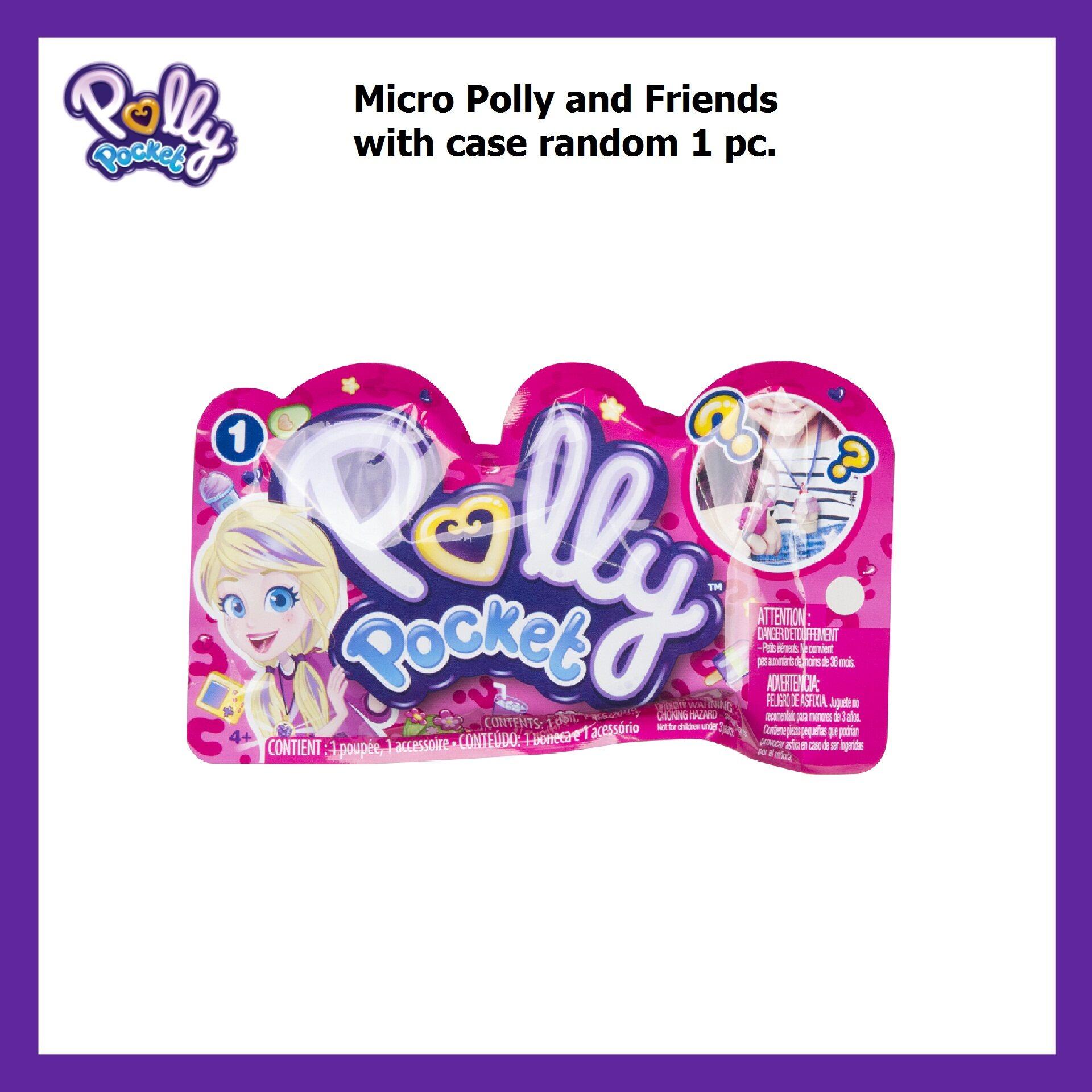 Polly Pocket Mini Accessory With Doll พอลลี่ พ๊อกเก็ต ตุ๊กตาและกล่องเก็บ คละแบบ 1 ชิ้น รุ่น Gnk16 Ch.