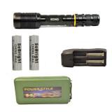 ส่วนลด Echo ไฟฉาย Cree Xml T6 สีดำ แบบยาว ถ่านชาร์จ 18650 2 ก้อน พร้อมที่ชาร์จ และ Flashlight Box