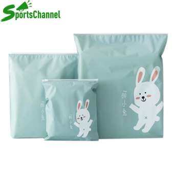 sportschannel 3 ชิ้น/เซ็ตกันน้ำเสื้อผ้าถุงเก็บของมีซิปแบบพกพา (สีฟ้า) - INTL