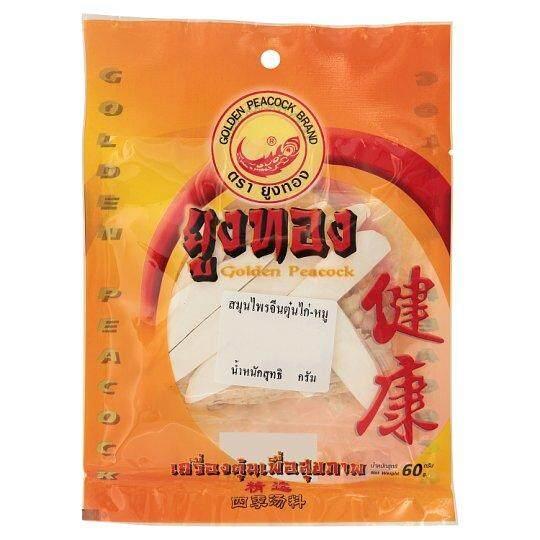อาหารแห้ง & อาหารกระป๋องยูงทอง สมุนไพรจีนตุ๋นไก่-หมู 60กรัมข้าว ธัญพืช และสมุนไพรสมุนไพร By Bitshop.