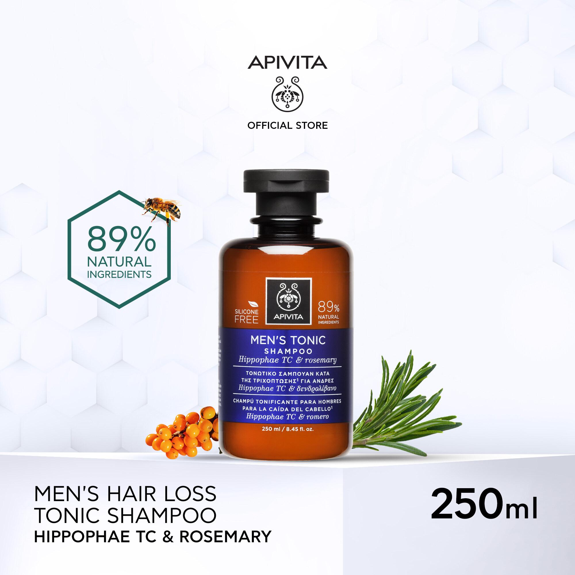 Apivita Mens Tonic Shampoo Hippophae Tc & Rosemary 250ml อะพิวิต้า เมน โทนิค แชมพู ฮิปโพรเพ ทีซี แอนด์ โรสแมรี่ 250 มล..